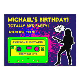 1980's Birthday Party Invitation