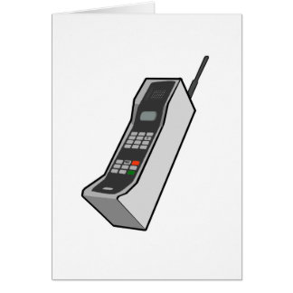 1980s Cellphone Greeting Card