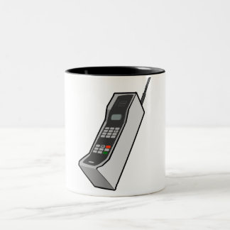 1980s Cellphone Two-Tone Coffee Mug