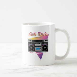 1980s ghetto blaster boombox coffee mug