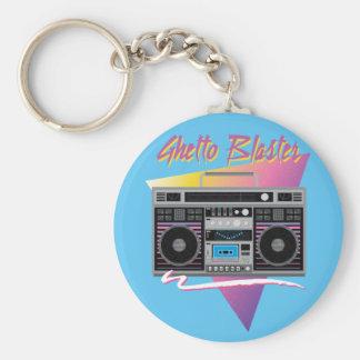 1980s ghetto blaster boombox keychain