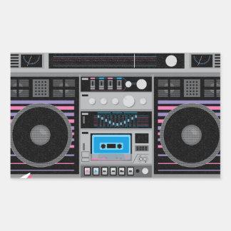 1980s ghetto blaster boombox sticker