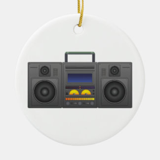 1980's Hip Hop Style Boombox Ceramic Ornament