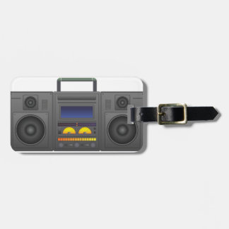 1980's Hip Hop Style Boombox Luggage Tag