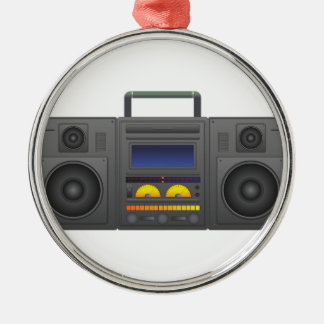 1980's Hip Hop Style Boombox Metal Ornament