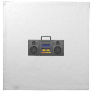1980's Hip Hop Style Boombox Napkin