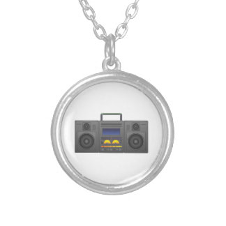 1980's Hip Hop Style Boombox Silver Plated Necklace