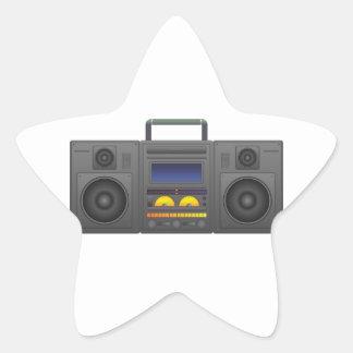 1980's Hip Hop Style Boombox Star Sticker