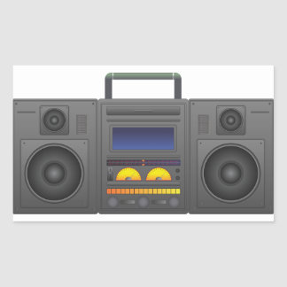 1980's Hip Hop Style Boombox Sticker