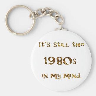 1980s Nostalgia Gold Glitter Keychain
