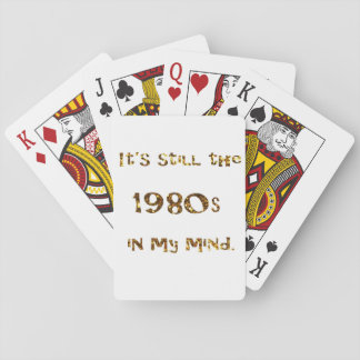 1980s Nostalgia Gold Glitter Playing Cards