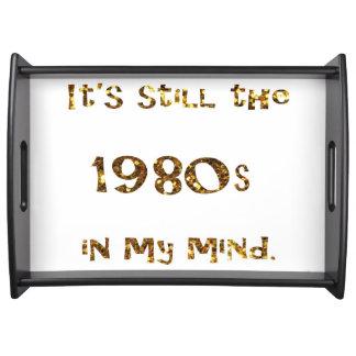 1980s Nostalgia Gold Glitter Serving Tray