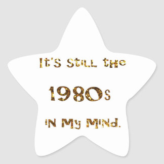 1980s Nostalgia Gold Glitter Star Sticker