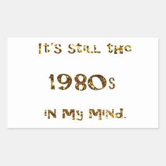 1980s Nostalgia Gold Glitter Sticker