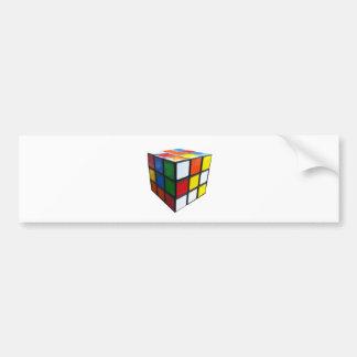 1980's Puzzle Cube Bumper Sticker