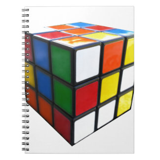 1980's Puzzle Cube Spiral Notebook