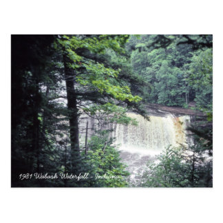 1980's Wabash River Waterfall Indiana Beautiful Postcard
