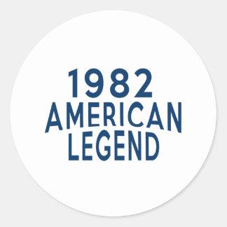 1982 American Legend Birthday Designs Round Sticker