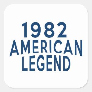 1982 American Legend Birthday Designs Square Sticker
