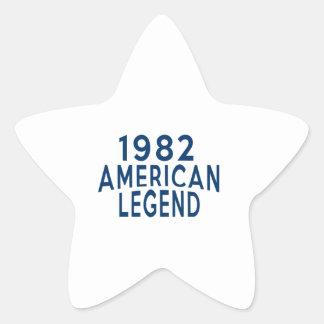 1982 American Legend Birthday Designs Star Sticker