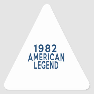 1982 American Legend Birthday Designs Triangle Sticker