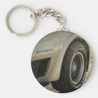 1982 Chevrolet Corvette Collector's Edition Wheel Basic Round Button Keychain
