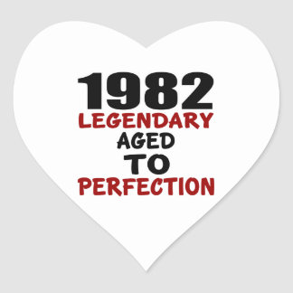 1982 LEGENDARY AGED TO PERFECTION HEART STICKER
