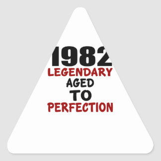 1982 LEGENDARY AGED TO PERFECTION TRIANGLE STICKER