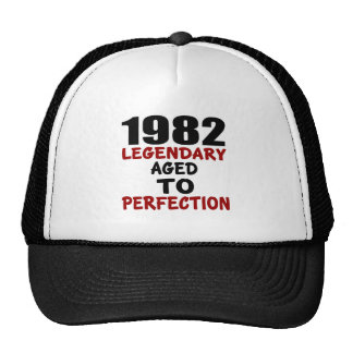 1982 LEGENDARY AGED TO PERFECTION TRUCKER HAT