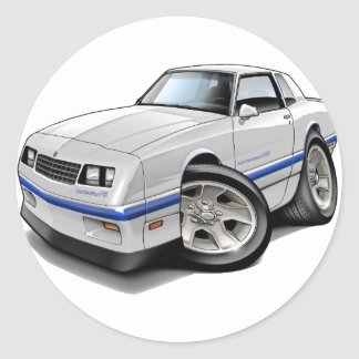 1983-88 Monte Carlo White-Blue Car Classic Round Sticker