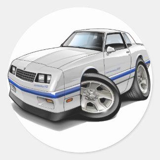 1983-88 Monte Carlo White-Blue Car Round Sticker