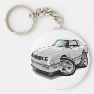 1983-88 Monte Carlo White-Grey Car Keychain