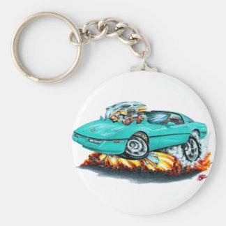 1984-93 Corvette Turquoise Car Keychain