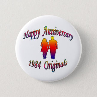 1984 Couple 2 Inch Round Button