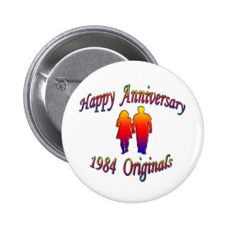 1984 Couple 2 Inch Round Button