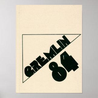 1984 Graydon Gremlin Yearbook Poster