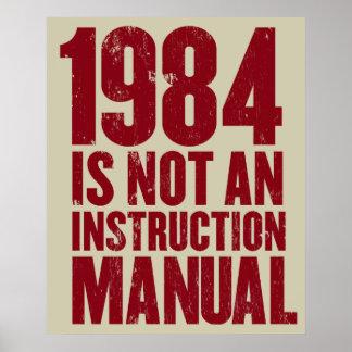1984 n'est pas une affiche de manuel d'instruction