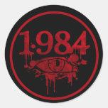1984 ROUND STICKER
