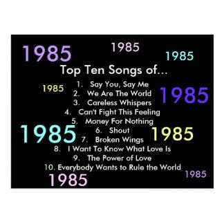 1985 Songs Postcard