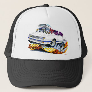 1986-88 Monte Carlo White-Blue Car Trucker Hat