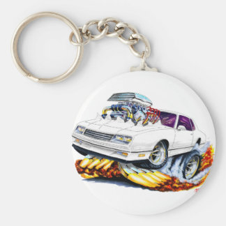 1986-88 Monte Carlo White Car Keychain