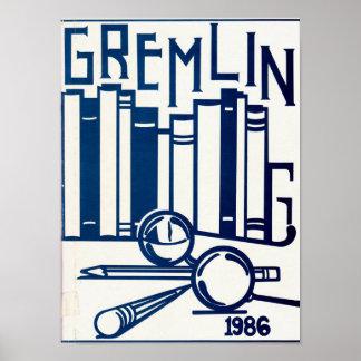 1986 Gradyon Gremlin Yearbook Poster
