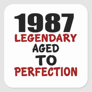 1987 LEGENDARY AGED TO PERFECTION SQUARE STICKER