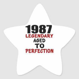 1987 LEGENDARY AGED TO PERFECTION STAR STICKER