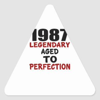 1987 LEGENDARY AGED TO PERFECTION TRIANGLE STICKER