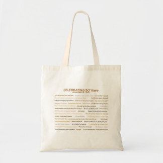 1987 Memories 30th Birthday Tote