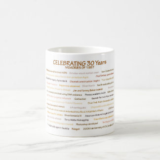 1987 Memories for 30th Birthday Celebration Coffee Mug