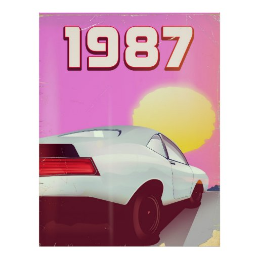 1987 sportscar poster