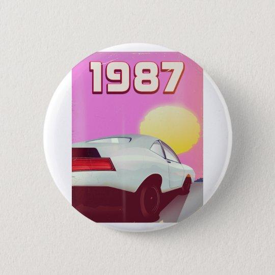 1987 sportscar poster 2 inch round button