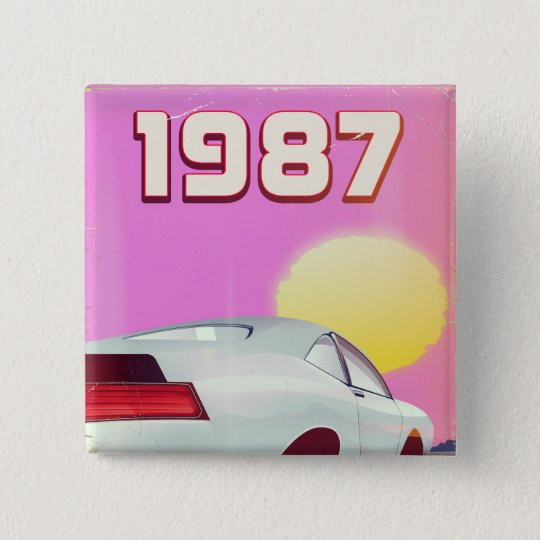 1987 sportscar poster 2 inch square button
